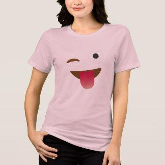 flirt tongue emoji shirt funny t-shirt design