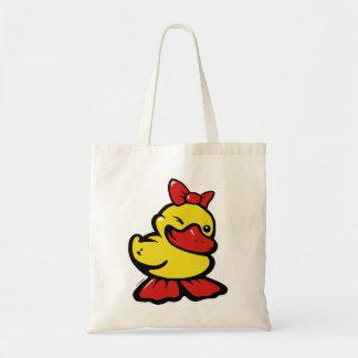 flirting duck budget tote bag