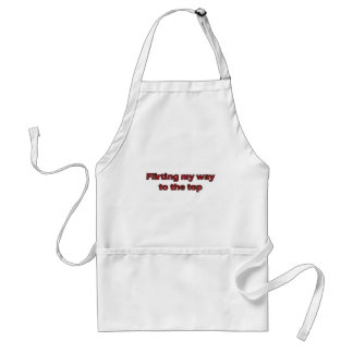 Flirting my way to the top standard apron