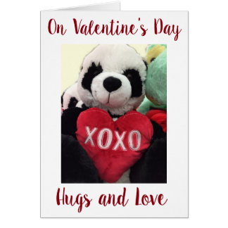 **FLIRTING TEDDYBEAR** FOR YOU ON VALENTINE'S DAY CARD