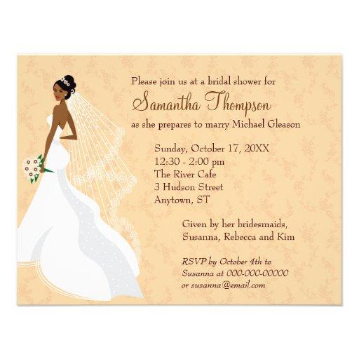 Flirty Champagne 2 Bridal Shower Announcements