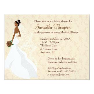 Flirty Champagne Bridal Shower 11 Cm X 14 Cm Invitation Card