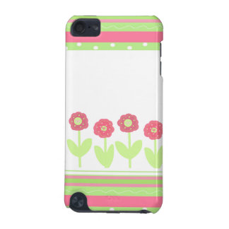 Flirty Flowers and Stripes iPod Touch (5th Generation) Cases