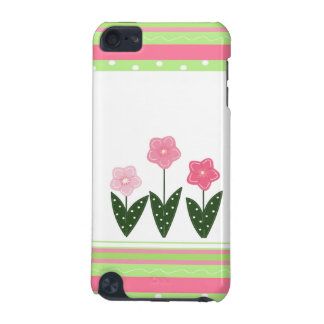 Flirty Flowers and Stripes iPod Touch (5th Generation) Cover