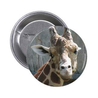 Flirty Giraffe Button