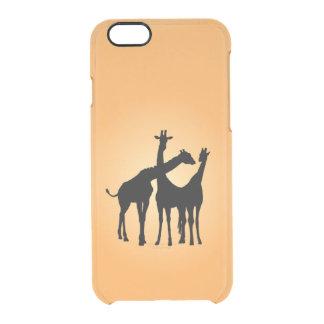 Flirty Giraffe Clear iPhone 6/6S Case