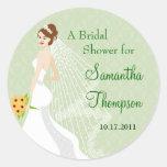 Flirty Jade Bridal Shower Sticker