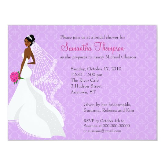 Flirty Lilac 2 Bridal Shower Invitation