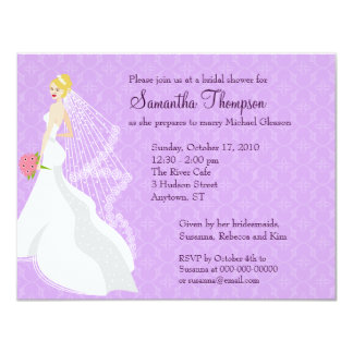 Flirty Lilac Bridal Shower Invitation