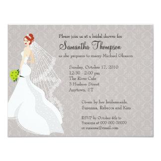 Flirty Mist Bridal Shower Invitation