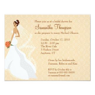 Flirty Peach Bridal Shower Invitation