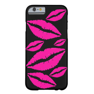 Flirty Pink Lipstick Kisses Cell Phone Case