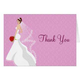 Flirty Rose Bridal Shower Thank You Card