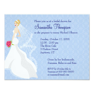 Flirty Sapphire 2 Bridal Shower Invitation