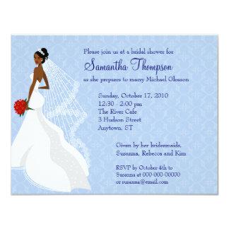 Flirty Sapphire Bridal Shower Invitation