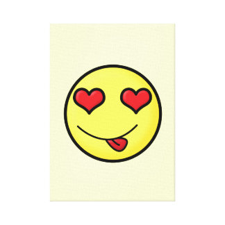Flirty smile stretched canvas print