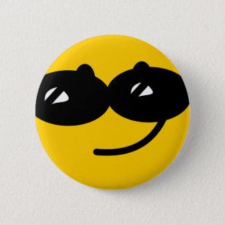 Flirty sunglasses smiley face 6 cm round badge