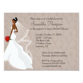 Flirty Taupe Bridal Shower invitation