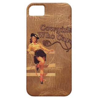 Flirty Vintage Retro Rodeo Country CowGirl iphone5 iPhone 5 Covers