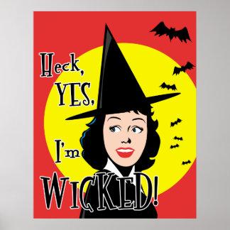 Flirty Wicked Witch Poster Print
