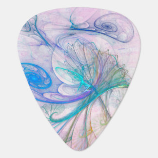 Flittering Abstract Flame Fractal Guitar Pick
