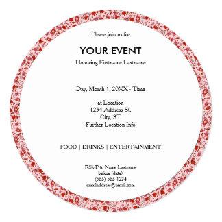 Flittering Florals 13 Cm X 13 Cm Square Invitation Card