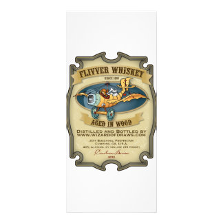 Flivver Whiskey Label Personalized Rack Card