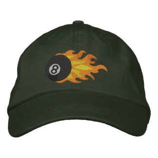 Flming 8-ball embroidered baseball cap