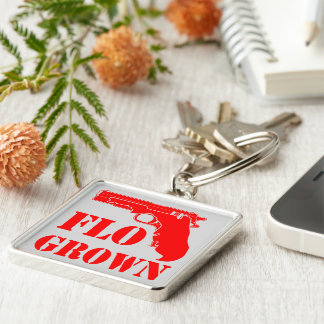 Flo Grown Pistol  FB.com/USAPatriotGraphics Key Ring