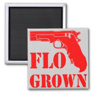 Flo Grown Pistol  FB.com/USAPatriotGraphics Square Magnet