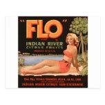"""Flo"" Indian River Fruit Post Card"