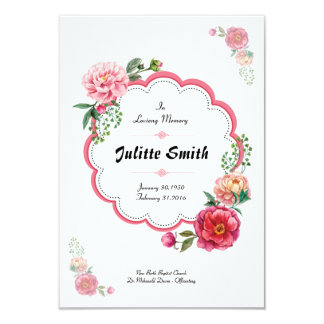 Floal Funeral Card Template