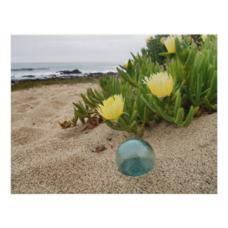 Float and Yellow Ice Plant Poster