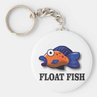 float fish key ring