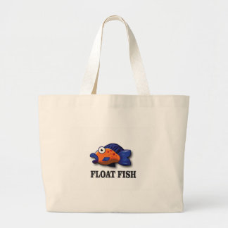 float fish large tote bag
