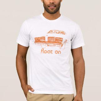 Float On - Orange / White T-Shirt