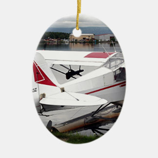 Float plane 19, Lake Hood 47 Alaska1 437 e sh30 30 Ceramic Oval Decoration