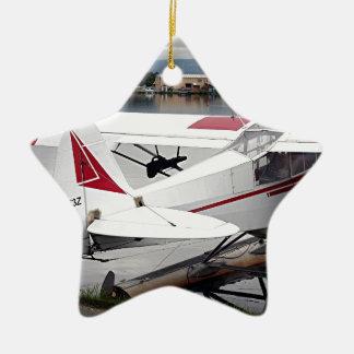 Float plane 19, Lake Hood 47 Alaska1 437 e sh30 30 Ceramic Star Decoration