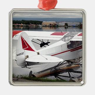Float plane 19, Lake Hood 47 Alaska1 437 e sh30 30 Silver-Colored Square Decoration
