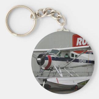 Float plane 24, Lake Hood, Alaska Basic Round Button Key Ring
