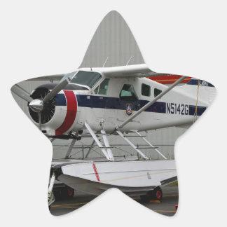 Float plane 24, Lake Hood, Alaska Star Sticker