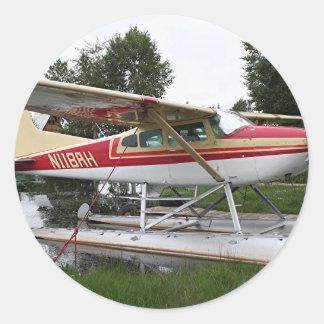 Float plane 3, Lake Hood, Anchorage, Alaska, USA Stickers