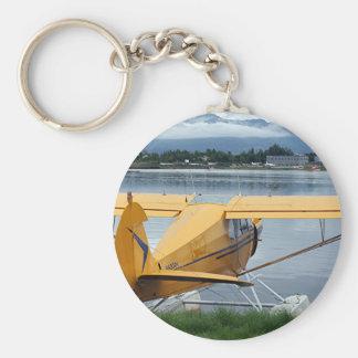 Float plane 6, Lake Hood, Anchorage, Alaska, USA Basic Round Button Key Ring