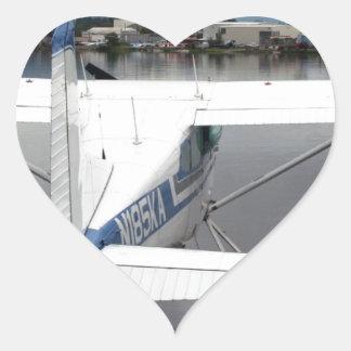 Float plane, Lake Hood, Anchorage, Alaska, USA 17 Heart Sticker