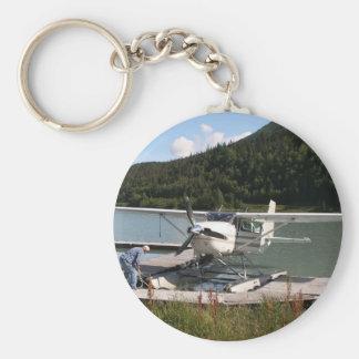 Float plane, Trail Lake, Alaska 2 Basic Round Button Key Ring