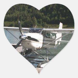 Float plane, Trail Lake, Alaska 2 Heart Sticker