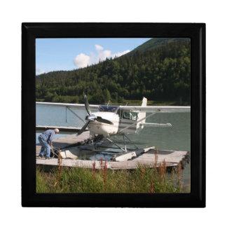 Float plane, Trail Lake, Alaska 2 Large Square Gift Box