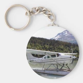 Float plane, Trail Lake, Alaska 3 Basic Round Button Key Ring