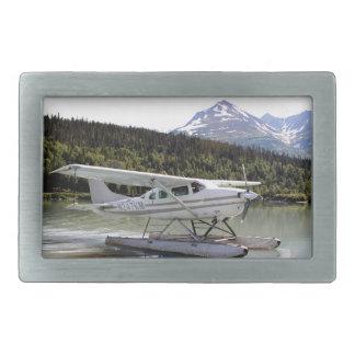 Float plane, Trail Lake, Alaska 3 Rectangular Belt Buckles