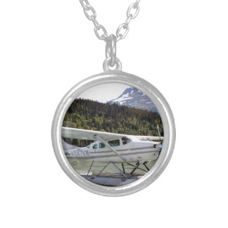 Float plane, Trail Lake, Alaska 3 Silver Plated Necklace